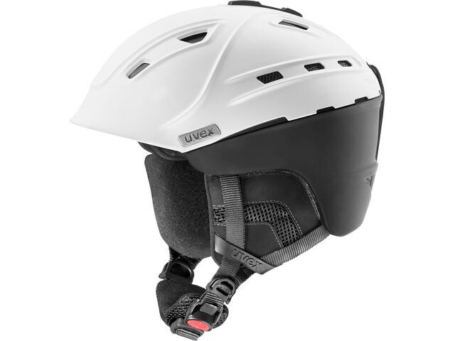 UVEX p2us IAS Ski Helmet white/black mat